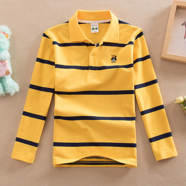 good quality spring boys t-shirts 2019 cotton striped uniform clothing children boys casual long sleeve tees fashion sports tops