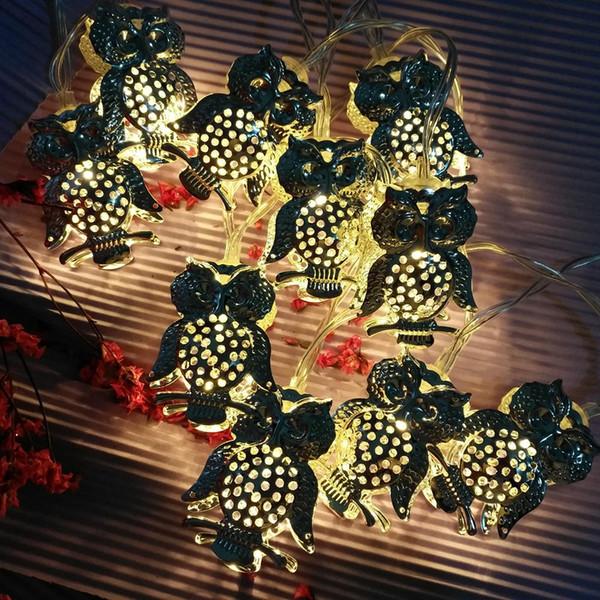 LED Owl String Lights Christmas Pendnts Lights Decor New Year Festoon Light Bulbs Fairy Room Light Chain 1.5m 10leds 3m 20leds