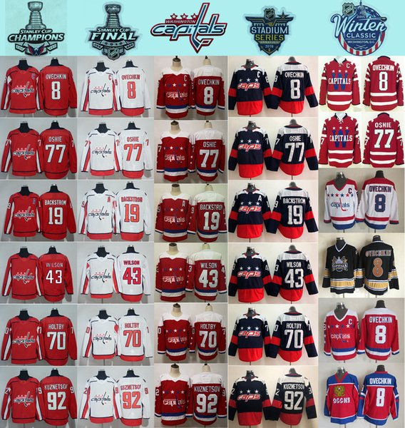 best selling 2018 Stadium Series Washington Capitals 8 Alex Ovechkin 77 TJ Oshie Evgeny Kuznetsov Backstrom Holtby Wilson Winter Classic Hockey Jerseys