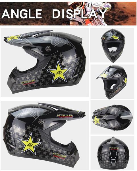 Off-road Motorbike Helmet Motocross Helmets On For MTB DH Racing Helmet Mountain Full Face ABS Bicycle Downhill Bike
