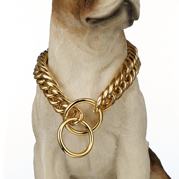 gold cuban link dog collar
