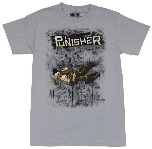The Punisher (Marvel Comics) Mens T-Shirt - Diving Camo Clad Punisher Amongst Co Men Women Unisex Fashion tshirt Free Shipping WHITE