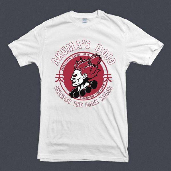 AKUMA GOUKI Street Fighter Dojo T-shirt Martial Arts Video Game S M L XL 2XL 3XL