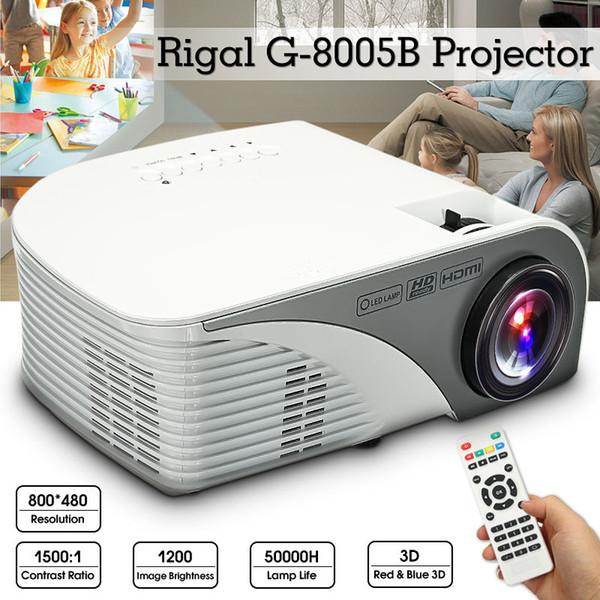 1200 Lumen HD LED-Projektor 3D-Großbild-Kino-Kino-LCD-HDMI-AV / VGA / USB / SD / HDMI-Multimedia-Beamer