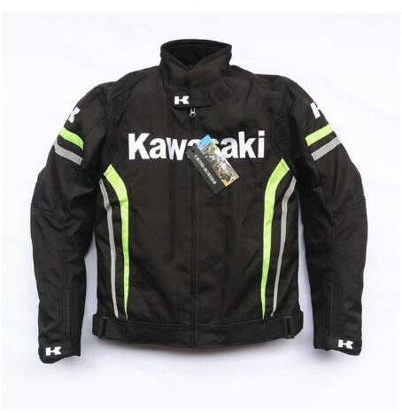 Windproof Waterproof Motorcycle Racing Jacket For Kawasaki Oxford Cloth Moto Jackets With Removable Liner