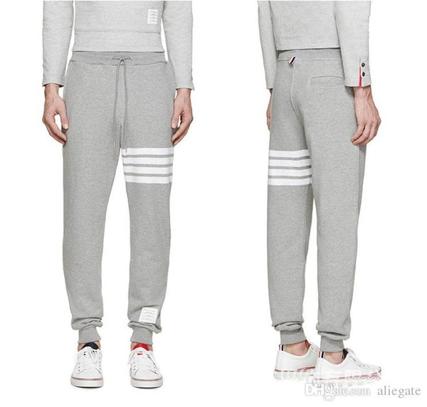Men's Cotton 4 Bars Classic tb Sports Pants Youth Fall Outdoor Sports Fashion Tether High Quality Brand Sports Pants