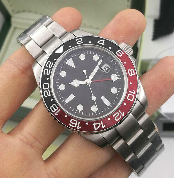 New luxury Batman designer Ceramic Bezel Mens Mechanical Stainless Steel Automatic Movement Watch Sports Self-wind Watches Wristwatches
