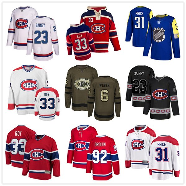 best selling Custom Montreal Canadiens Jersey 33 Patrick Roy 31 Carey Price 6 Shea Weber 6 Shea Weber 92 Jonathan Drouin USA Flag hockey jerseys