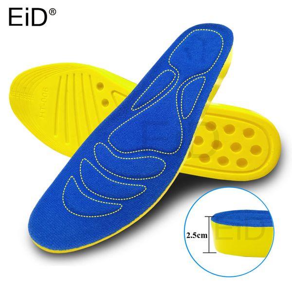 EiD 2.5cm Height Increase Insole Cushion Height Lift Adjustable Cut Shoe Heel Insert Taller Women Men Unisex Quality Foot Pads