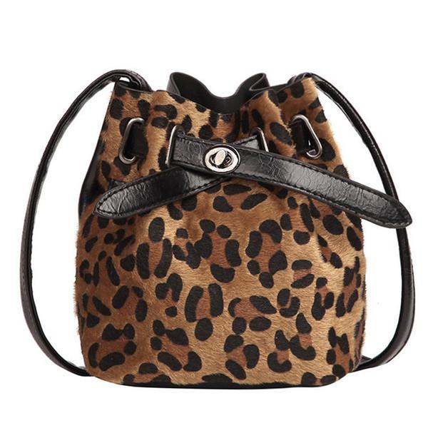 Winter Fashion Plush Leopard Print Shoulder Purse Mini Square Package Shoulder Messenger Bag Cross--body Bag Phone Coin Package