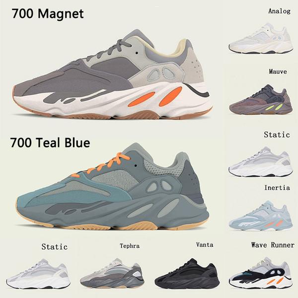Adidas Yeezy 700 V2 chaussures de course Magnet Teal Blue pour hommes, femmes, sel.