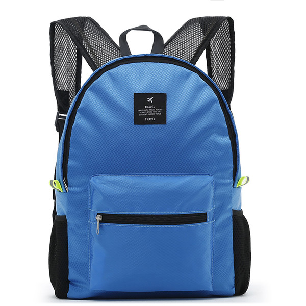 Casual Fashion Backpack Women Leisure Travel Backpacks For Teenage Girls School Bags Female Nylon Waterproof Folding Rucksack 17