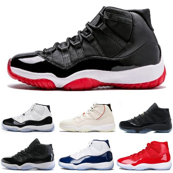 Concord 45 Platinum Tint Mens Basketball Shoes 11 11s Men Women Gym Red Space Jam Gamma Blue Sports Shoes Designer Sneakers Size 7-13