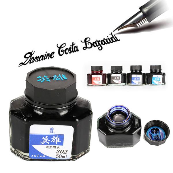 Acheter 50ml Calligraphie écriture Peinture Stylo Plume Encre Colorée Pour Plume Plume Fontaine écrire Dessin Dessin Graffiti Non Carbone