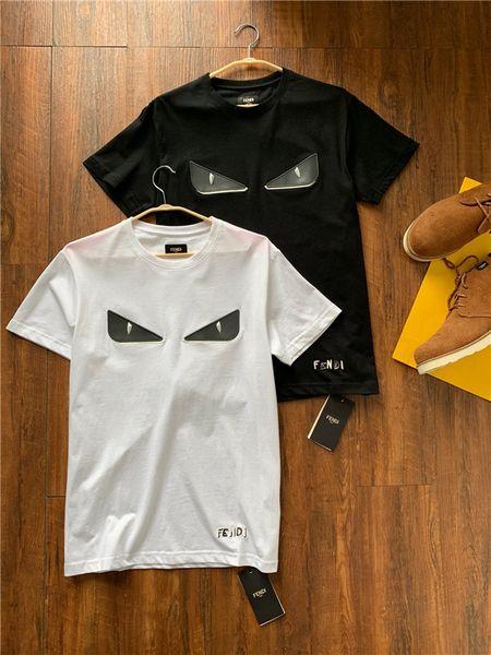 19ss nuovo marchio italiano Fend design ricamo occhio modello T-shirt uomo e donna moda strada giacca a vento felpa t-shirt outdoor
