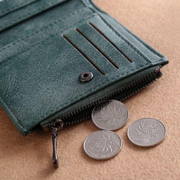 Femmes Lady court bourse PU cuir Zipper Swans titulaire de la carte de broderie porte-monnaie embrayage sac d'argent MUG88
