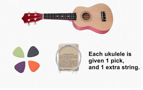 Beautiful 21 inch wooden ukulele children's small guitar color uklele beginners getting started practicing musical instruments