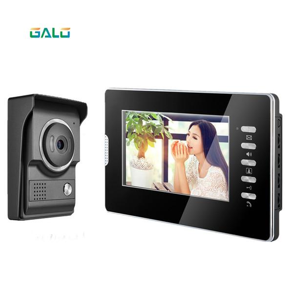 2019 nuovo 4 cablato villa videocitofono da 7 pollici TFT LCD schermo acrilico visione notturna telecamera a colori sistema citofono di sicurezza domestica