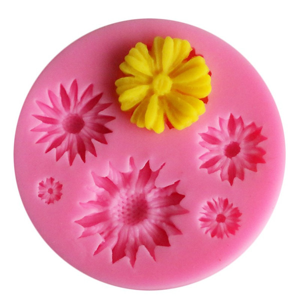 Sunflower Shaped Clay Soap Mold Silicone Fondant Sugarcraft Mould Chocolate Molds For Household Cake Decorating Tools 1 4yxa E1