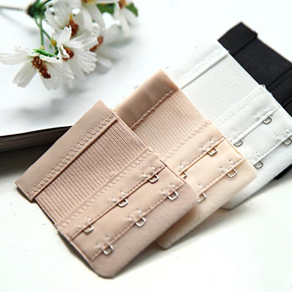 best selling 30Pcs Bra Extender 3 Hooks 2 Rows Bra Extension Adjustable Strap Extender Bra Accessories Soft To Skin Women Underwear Expander