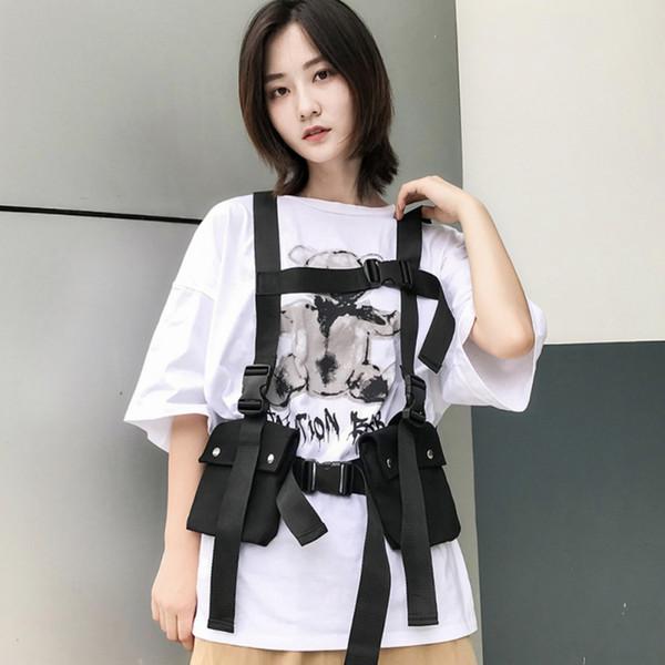 Мода Hip Hop Street Men \ 's и Женщины \' s Chest Карманы Регулируемый наплечный мешок Multi-карманный Vest сумка New