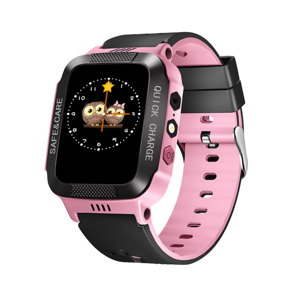 2018 Smart Baby Watch Children Kids Y21 GSM GPRS GPS Locator Tracker Anti-Lost SOS wechat Dial Call Smartwatch Child Guard alarm