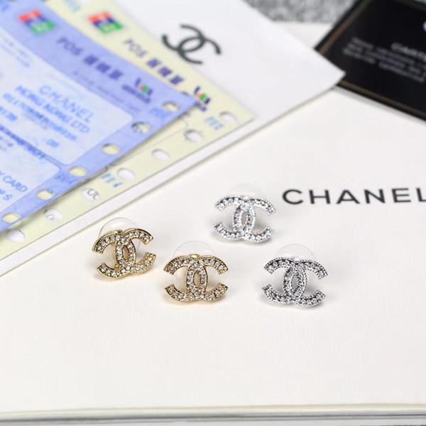 Moda Kadın Charm Avusturya Kristal Top Altın Gümüş Küpe Kadın Parti Düğün Takı Için Yüksek Kalite Küpe Buklet D 'Oreille F