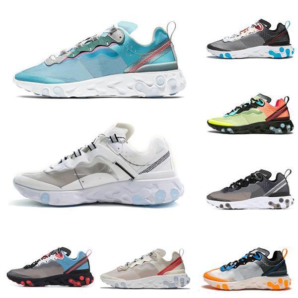 2019 Epica Reagire 87 istantanei Scarpe Uomo Outdoor Donne maglieria leggera e traspirante Moda jogging scarpe da tennis allenatori sportivi