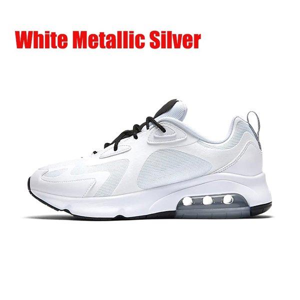 Weißes metallisches Silber 40-46