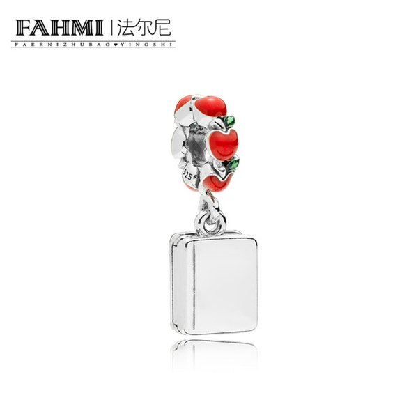 Fahmi 100% 925 d'argento fortunato LIBRO APPENDE CHARM Natale signora Gift originale Fit Monaco APM gioielli 797167ENMX