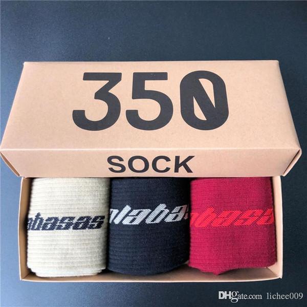 19SS calabasas medium hose hip hop skateboard fashion men's monogrammed print socks kanye sport stockings socks
