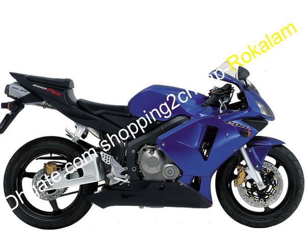 Cowling For Honda 600RR CBR600RR Fairing 03 04 CBR600 RR F5 CBR600F5 CBR-600 2003 2004 Blue Black ABS Fairings Kit (Injection molding)