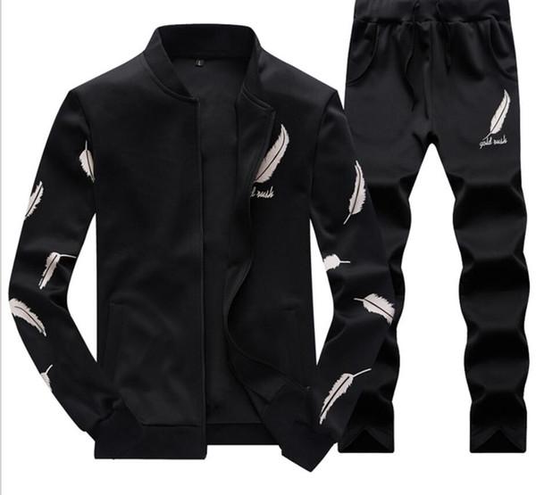 Mens Baseball Jacket Pants Survêtements Sports Adolescent Vêtements Ensembles De Mode Plume Conception Costumes Imprimés