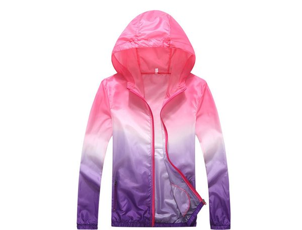Factory Direct Gradient Color Sun Protection Clothing Spring And Summer Outdoor Jacket Beachwear Sports Windbreaker