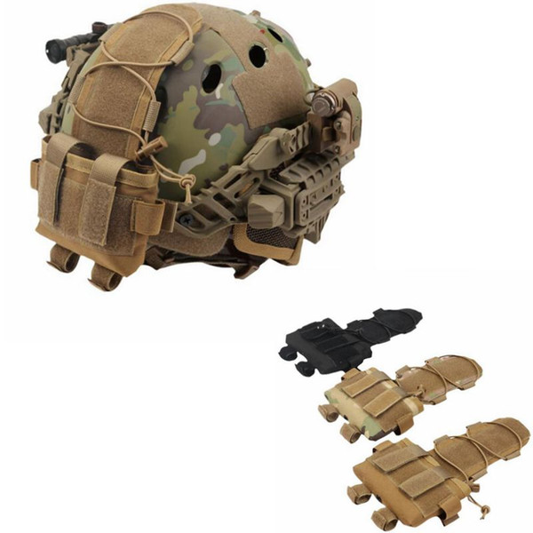 top popular Hunting Tactical Pouch MK2 Battery Case For Helmet Camo Combat Counter weight Battery Bag Molle Pouch 2021