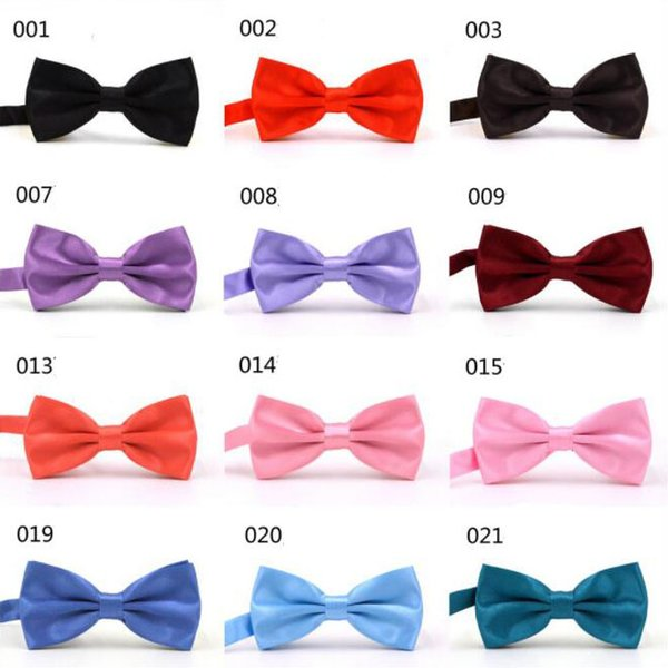 top popular MIX COLORS Men STAIN Solid COLORS Bow Ties Butterfly Gentleman Wedding Party Adjustable Wedding PLAIN Prom boe tie 2020