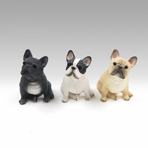 Ornamento per auto Personalit Resina Mini Bulldog francese Decorazione Casa Automobile Interni Imitazione Dog Craft Decor Accessori Regalo