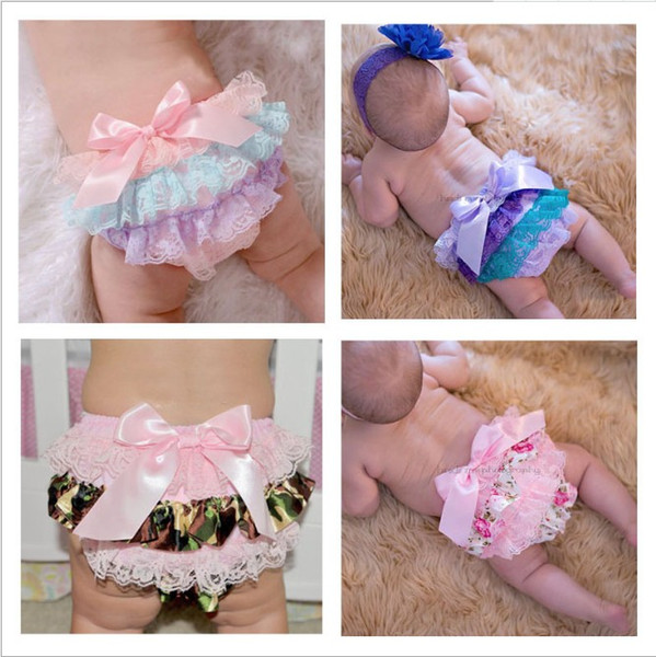 Mix 7 Colors Baby Girls Lace TUTU Bloomers Infant Kids PP Shorts Pants Underwear Children Pettiskirt Ruffle Diaper Cover boutique clothes