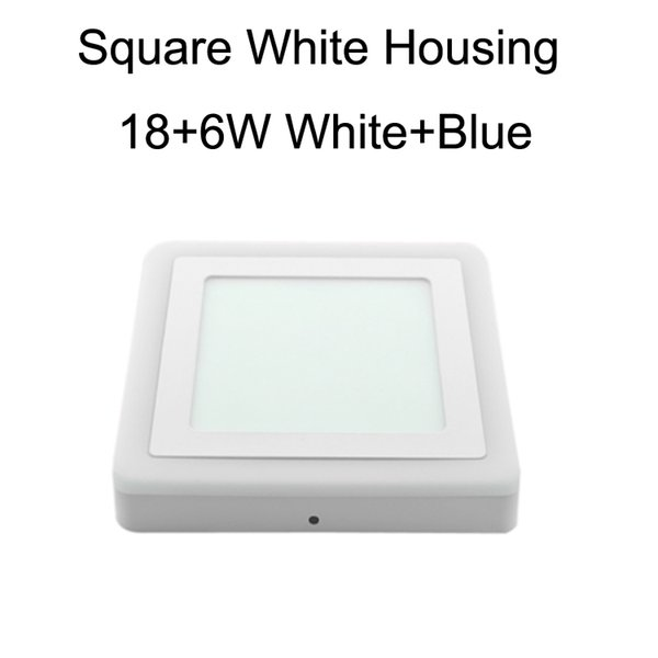 Square White Housing 18+6W White+Blue