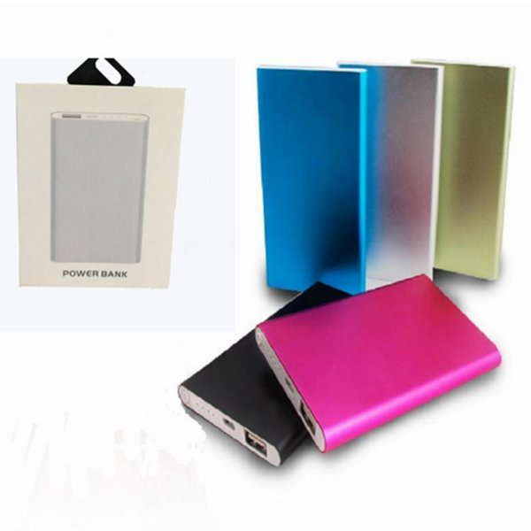 Power Bank 4000mAh External Battery Powerbank Tablet PC Charger Cell Phone Power Banks With Retail Box