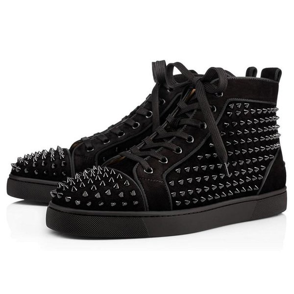 Black Suede Spikes