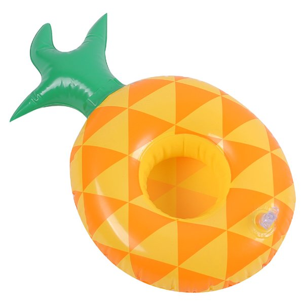 Pinapple Fruit Inflatable Flamingo Drinks Cup Holder Pool Floats Bar Coasters Floatation Devices Children Bath Toy