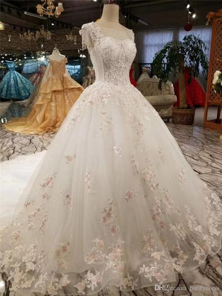 Lusso sexy abiti da sposa Spose di sfera elegante del merletto di alta classe Long Tail cinese spose Abiti evning Abiti di fabbrica fatto a mano