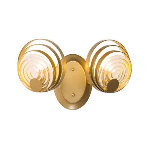 Постмодерн светло-золотой гостиной золотой G9 LED настенные бра фон стены спальня прикроватная подсветка стеклянная абажур дизайнерская лампа