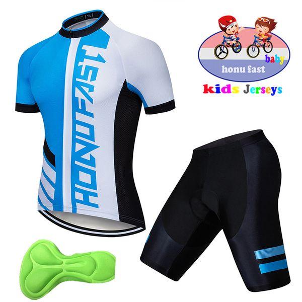 2019 Conjuntos de jersey de ciclismo para niños Jerseys de manga corta MTB Shorts de bicicleta para niños Ropa de ciclismo de carretera para niños al aire libre