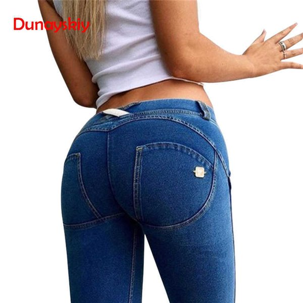 Womens Clothing Skinny Slim Push Up Long Denim Pencil Pants Casual Sexy Elastic High Waist 4colors Femme Trousers Jeans WomanQ190330