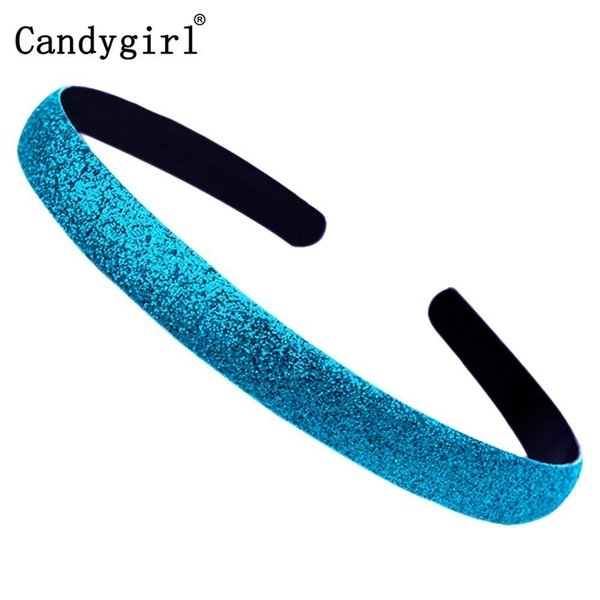 13pcs Plastic Headbands Sequin hairband Colored Kids Covered Hair Accessories Women Glitter Shiny Frosted Candy Color Hair Hoop