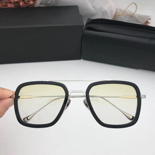 Progressive yellow lens