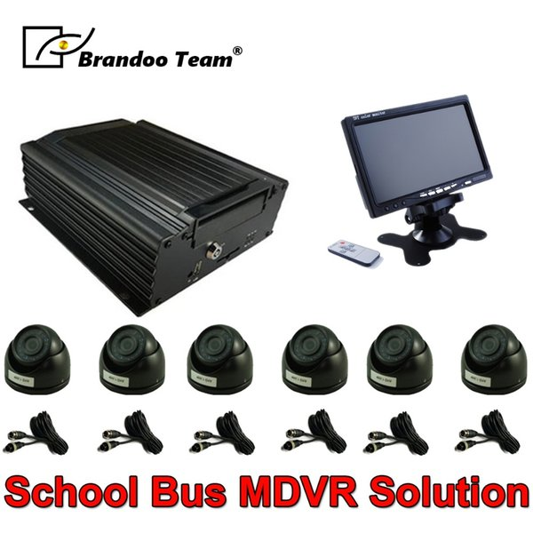 8 Channel Mobile DVR Kit With 6pcs Dome IR Car Camera Special design for school bus mdvr dvr kit support 4G and GPS function