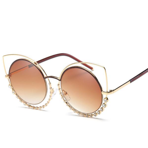 f1a4890741d4d Mulheres Moda Óculos De Sol de Boa Qualidade Óculos de Proteção Uv400  Popular Olho de Gato